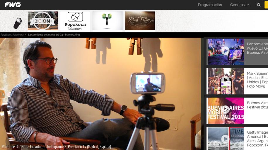 Producción de contenidos para FWTV