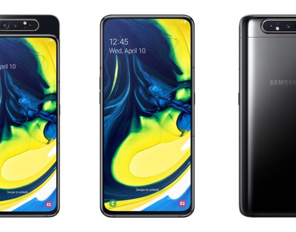 Samsung ya vende en el país el Galaxy A80, el primer celular con triple cámara giratoria