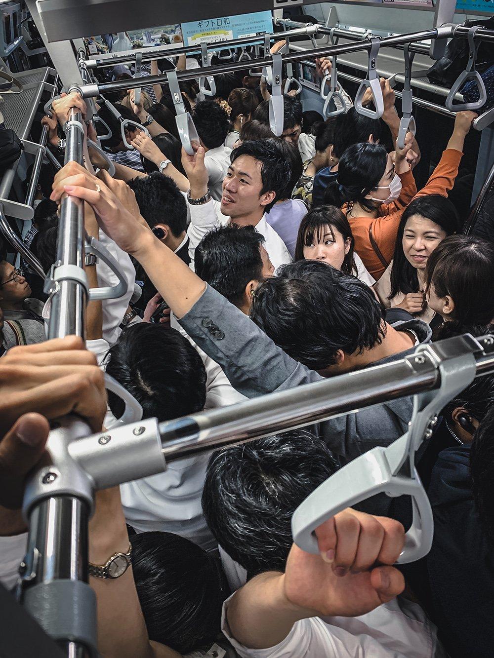 Peak Hour in Tokyo. Foto: Jeff Liang